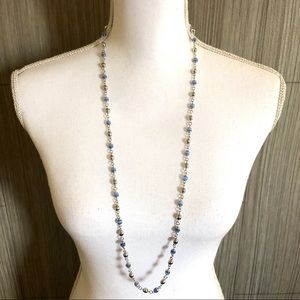 Cookie Lee Silver and blue beaded Necklace